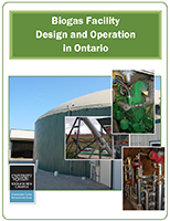 "Screen shot of front cover of manual - ""Biogas Facility Design and Operation in Ontario""."