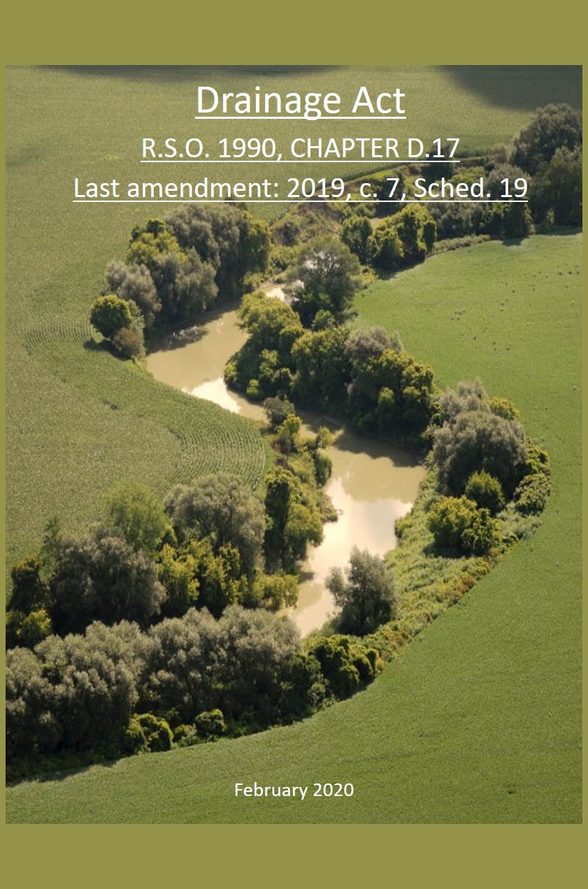 Image of Drainage Act Booklet cover
