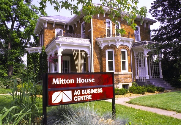 Victorian Building Converted into Offices with Sign Out Front That Reads Mitton House Ag Business Centre
